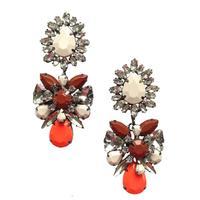 New 2014 fashion earring shourouk style spring big crysta earring design statement shourouk stud Earrings for women wholesale