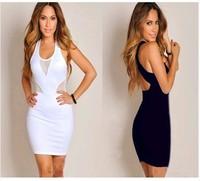 2014 New Hot Fashion women cozy clothing sexy girl dress summer women dress hollow out sexy club cotton  WA