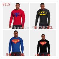 Superman T Shirt men's clothes Casual autumn Fashion t shirt Long Sleeve Tee print 3D 3Colors Free shipping