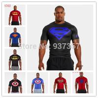 Free shipping 3d T-shirt t shirt superman diamond suply UA men plus size hip-hop short sleeve blusas fashion O-Neck t shirts