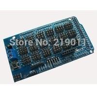 Free Shipping MEGA Sensor Shield V1.0 V2.0 MEGA 2560 Support IIC, Bluetooth, SD, robot parts mega2560 Sensor Shield for