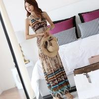 Dila Meng 2014 New strap V-neck ladies sexy summer dress bohemian dress 6275
