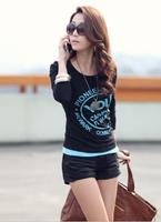 NEW 2014 fashion women girl casual clothing shirts t-shirts tops tee summer women t shirt slim print plus size t shirt S-XL WA