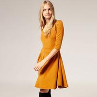 ASDS Shop agents spot wholesale Europe and America Slim Sleeve Pleated Dress WQZ7637