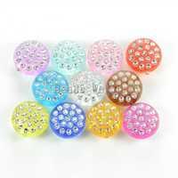 wholesale!100 Pcs Random Mixed Round Shape Acrylic Spacer Mushroom Beads 12mm(W03310 X 1) DIY Jewelry Making