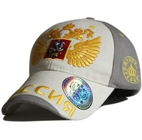 Free Shipping 2014 new poccnr national emblem  russia black grey orange baseball caps 100% cotton racing car sun cap hat