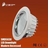 Free shipping led Aluminum profile Modern Recessed downlight fixture 3w 4w 5w 7w 9w 12w 15w 18w 21w lights for home