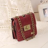 Mng vintage small  knitted chain shoulder  messenger  2014 women's handbag  desigual bag bolsas leather bags