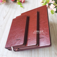 Quality vintage laptop fashion red notepad office stationery supplies red diary