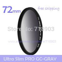 NiSi 72mm Ultra-thin GC-GRAY Gradient Gray Neutral Density Slim Filter for Canon Nikon Pentax Fujifilm Sony Tamron Sigma Samsung