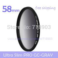 NiSi 58mm Ultra-thin GC-GRAY Gradient Gray Neutral Density Slim Filter for Canon Nikon Pentax Fujifilm Panasonic Sony Samsung