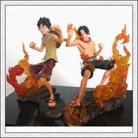 japan anime one piece Monkey D Luffy+Portgas D Ace 2 pcs set Fighting pvc action figure classic toys gift