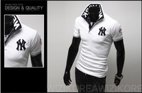 summer of 2014 the new foreign trade fashion collar men's T-shirt man short sleeve T-shirt