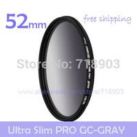 NiSi 52mm Ultra-thin GC-GRAY Gradient Gray Neutral Density Slim Filter for Canon Nikon Pentax Fujifilm Panasonic Sony Fuji LENS