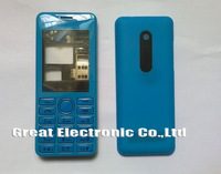 Blue replacement cell phone housing for nokia Asha 206 2060 faceplates frame repair cover case+keypad+spare parts free shipping