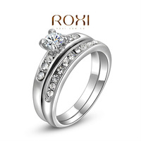 2014 New Hot Sale Bridal Sets Classic Lovers' Roxi Brands Fashion Ring, Austrian Crystals ,white Plated, Ring Jewelry,wholesale