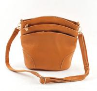 Women leather handbags messenger bags new 2014 genuine leather bags vintage casual shoulder cross body three zipper bag handbags