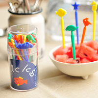 Free shipping Fruit sign small fork small tools diy fruit fork toothpick box lid 20