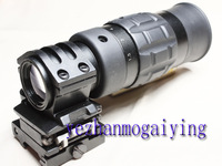 Zooming 1.5-5X Optics Magnifier Scope with Flip to Side(FTS) Mount Best for Hunting & Shooting 1.5-5X Mag A- Free Shipping