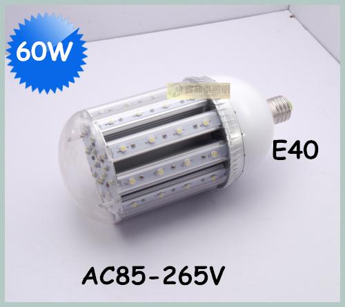 4pcs/lot 60W LED Street Light E40 Bulb Lamp 45mil led chip lumen 130-140lm/w AC85-265V Street Lights(China (Mainland))