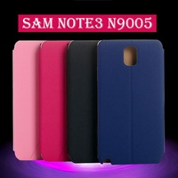 2014 elegant scratch-resistant high quality PU leather flip case for samsung galaxy note 3 case PU+PC pink black blue rosy color