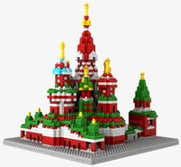 Tile assumption cathedral LOZ diamond blocks toy group of 1870 children computer DIY initiation toy, free shipping!
