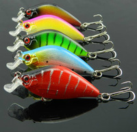 "Free Shipping High Quality Lot 5pcs New Fishing Hard Lures Crankbait Bass Bait Tackle 6.5cm/2.56""/8.4g"