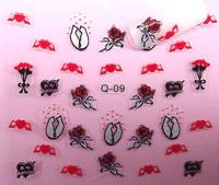 2014 New arrival 20pcs/lot cute design nail sticker/water transfer nail sticker/3d nail stickers/gold nail sticker LH25-48