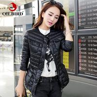 Oilbird 2014 winter jacket women slim thin female short down coat design jaqueta feminina jaquetas femininas