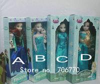 IN HAND! LOTS RETAIL 1PAIR 2014   Frozen Friends anna elsa dolls NIP FIGURE POSEABLE for children best preschool play