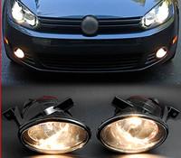 NEW PAIR FRONT BUMPER CLEAN CONVEX LENS FOG LIGHT DRIVING RUNNING LAMP FOR VW JETTA SPORTWAGEN GOLF MK6 TDI / TSI 9006 BULB