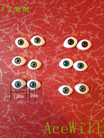 High Temperature Resistant (6pairs) Oval Acrylic Doll Eyeballs 12mm 1/8 Bjd/sd Eyes 12pcs Mixed Colors