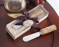 Stainless Steel Spreader with Wine Cork Handle Wedding favors and gifts Free Shipping Baby shower favors10 PCS/LOT
