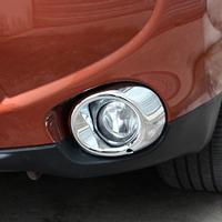 13 14 Mitsubishi Outlander 2013 2014 Front Fog Light Lamp Cover Chrome Trim Trims 2pcs
