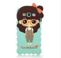 2014 Newest and  Fashional Pretty girl yoyo pattern soft rubber cover case for Samsung Galaxy S3 I9300 PT1099