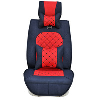 2014 Universal fit car seat covers,Bamboo fiber and hemp,Headrest pillows,Back cushions,5 seats/set,Black/gray/brown SXY1397