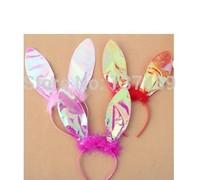 Cosplay dress headgear rabbit ears AB cloth BUNNY HEAD Headband party supplies