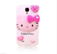 2014 The Newest and Fashional cute cartoon model silicon material Little Rabbit shape cover Case for  Samsung Galaxy S4 i9500