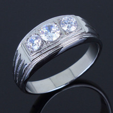 New Arrival Fashion Rings for Men Lead Free High Polish Stainless Steel AAA Cubic Zirconia Ring
