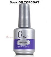 2014 New 15ml Soak off UV Topcoat Gel Polish Matter Top Coat Pro Nail Art Care Tools Acrylic Gel For Nails Toes for LED Lamp