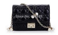 2014 Summer Bag Famous Brand Style Sheepskin Genuine Leather Women Shoulder Bag Messenger Luxury Mini Chain Plaid Bag Crossbody