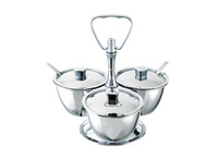 Wholesale - Free shipping Kinox quality 18/10 Stainless Steel Condiment Servers 8053/3 with three bowls