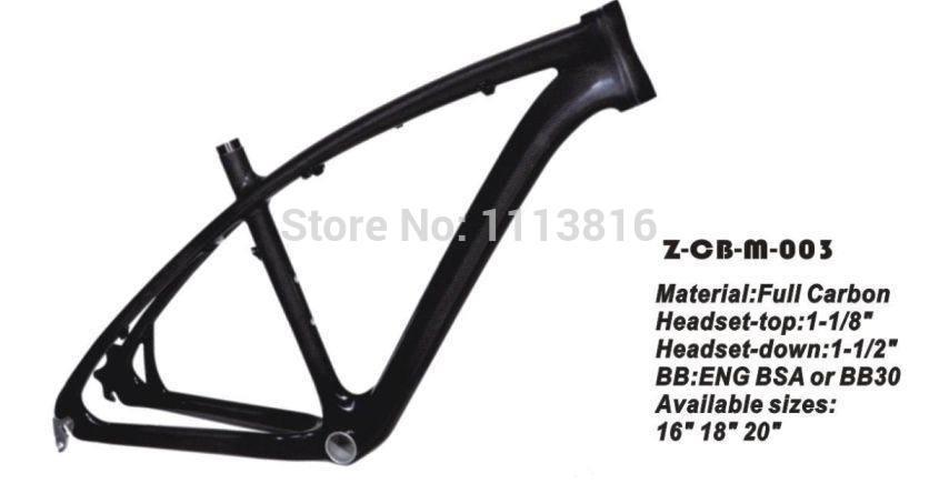 Carbon fiber bike frame ,MTB ,Material:Carbon, Weave:3K/12K/UDC Carbon Weave(China (Mainland))