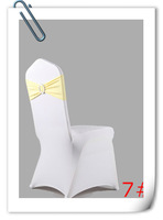 free shipping champange spandex band with plastic buckle for chair covers