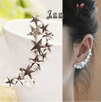 Free Shipping!Accessories New Arrival 2014 Ear Clip Rhinestone Butterfly No Pierced Spiral Earrings U Shaped Clip Earring