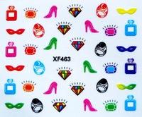 20pcs/lot 2014 New arrival  cartoon kids child 3D 3d japanese nail sticker nail polish stickers gel nail sticker XF460-495