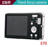 "E70 silver 12MP Digital camera with 2.7"" TFT LCD digital video camera + 16G SD Card Free Shipping"