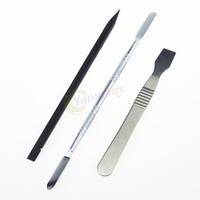 3 Pcs Metal & Plastic Spudger Set Repair Opening Pry Tool for Apple iPad iPhone