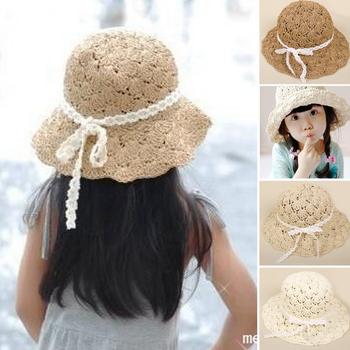 2014 новый корейский национальный ветер ручной летом соломенная шляпа дети большой наполнянный до краев шляпа мода топпер пляж шляпа A162
