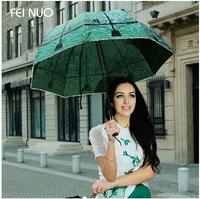 Quality Folding Beach Umbrellas Anti-Uv  Protection Super Sun Umbrella Princess Umbrella Female Umbrella Rain Women (Emerald)